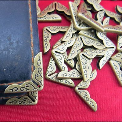 Book Collar Albums Folders Antique Bronze Corner Protectors Scrapbooking