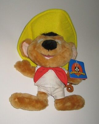"Speedy Gonzales Plush NWT 1997 Ace Novelty Company 10"" BACKWARDS FEET MFG FLAW"