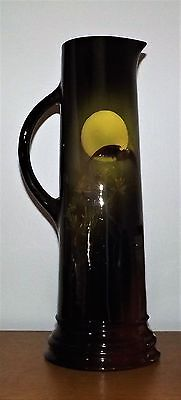Weller Louwelsa Large Tankard With Moon and Bat Signed Abel