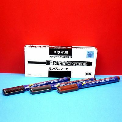Mr. Hobby Gundam Marker Pen [Fine Tip for Panel Line] GM01-03 (3 Pcs Set) GUNPLA