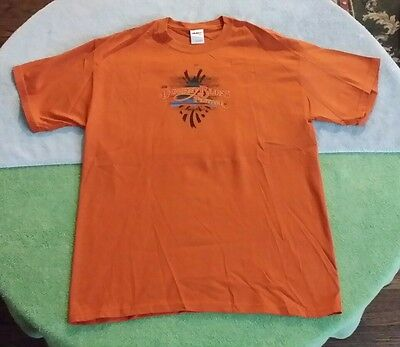 2011 Doheny Blues Music Festival CA T-Shirt Size L Brown John Fogerty California