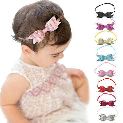 Baby Girls Infant Toddler Ribbon Bowknot Elastic Band Headband Hair Accessories