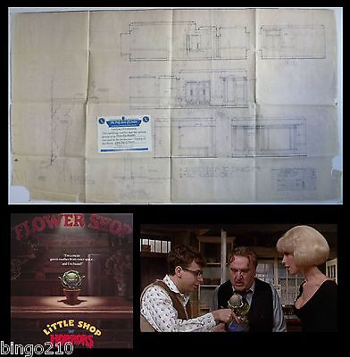Little Shop Of Horrors Original Production Used Blue Print With Coa Frank Oz
