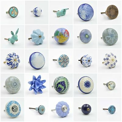 Blue Cupboard Knob Handle Pull Blue Coloured Knobs Handles