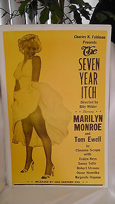 Vintage Marilyn Monroe The Seven Year Itch Posterboard Collectible 22 x 14