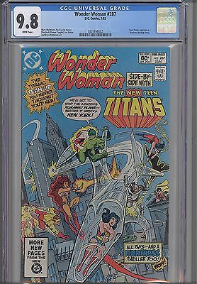 Wonder Woman #287  CGC 9.8  DC New Teen Titans  Comic in 1982: NEW CGC Frame