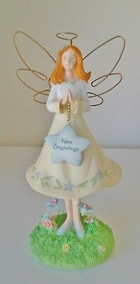 Guardian Fairy Angel Statue Figurine New Begginings handpainted decoration Russ