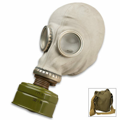 Russian Military Adult NBC Gas Mask w/Bag - New Sealed Filter Never Worn