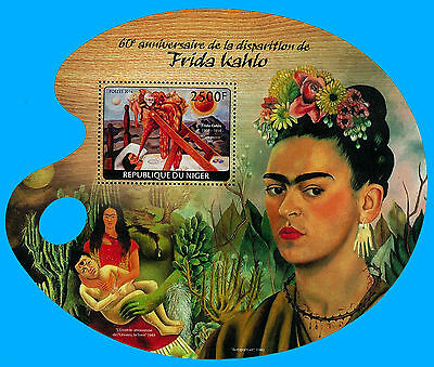 Niger Stamp, 2014 INT1462S Art, Painting, 60 ANN of Death Frida Kahlo