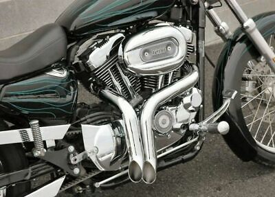 "2 1/4"" BitchSlap Chrome LAF Full Exhaust Headers Drag Pipes Harley Sportster XL"