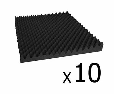 New Studio 10 Eggshell Acoustic Foam Black 50 X 50Cm Recording Studio Theaters