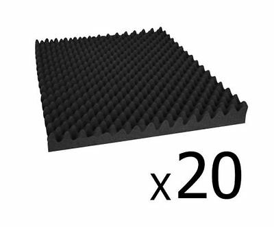 New Studio 20 Eggshell Acoustic Foam Black 50 X 50Cm Recording Studio Theaters
