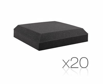 New Set Of 20 Studio Ceiling Acoustic Foam Charcoal Recording Studio Theaters
