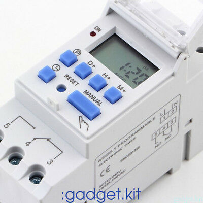 1 X Digital Timer Switch 220V Manual Electric Programmable Power point 7 Days AQ