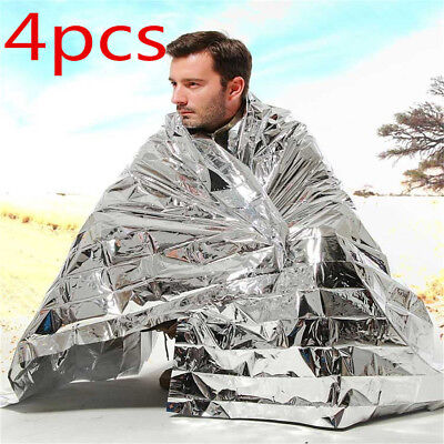 4x Emergency Foil Thermal Blanket Survival Baby Sensory First Aid Camping  KP