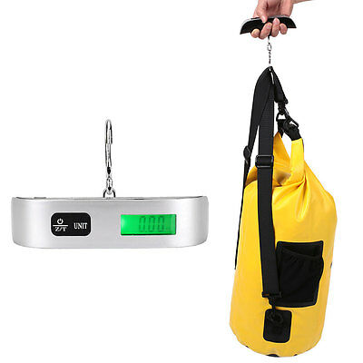50KG/10G LCD Display Digital Hanging Luggage Scale Weighing Travel Portable
