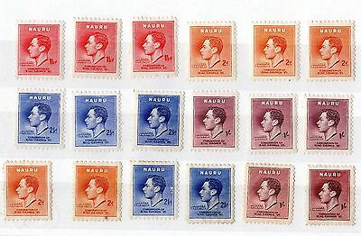 Nauru KGVI 1937 Coronation Set X 3 Plus SG44/47 Mint X5989