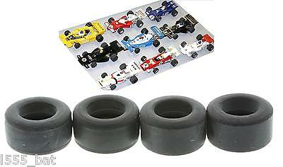 New Genuine Scalextric Tyres 4 Pack For Classic 1970s 1980s F1 Cars Suitable