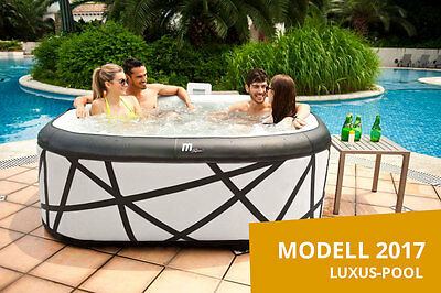 "MSPA 6 Personen Whirlpool ""SOHO"" - Model 2017 Indoor + Outdoor Pool mit Heizung"