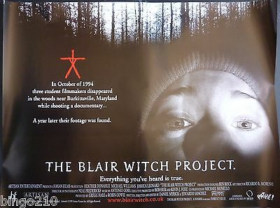 The Blair Witch Project Original 1999 Quad Poster Eduardo Sanchez Horror