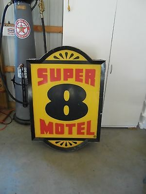 Motel Sign--SUPER 8 MOTEL--DOUBLE SIDED