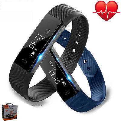 Smart Fit Watch Activity Step Tracker Heart Rate Hr Calorie Counter Wristband