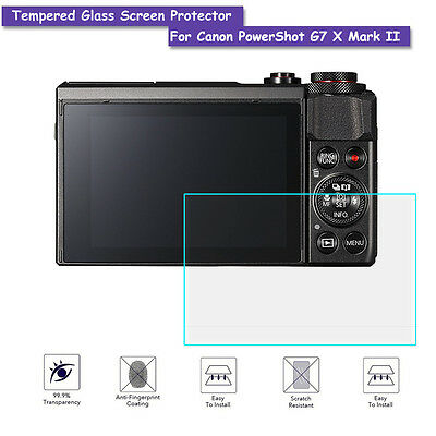 9H Tempered Glass Screen Protector Shield Film For Canon PowerShot G7 X Mark II