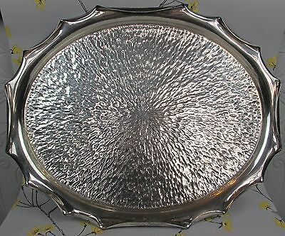 Vintage extra large & seriously heavy silver plated OVAL BUTLER'S SERVING TRAY.