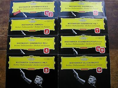 Slpm 138 801 - 8 Beethoven: The Symphonies  Karajan / Bpo   Tulips / Alle   Nm