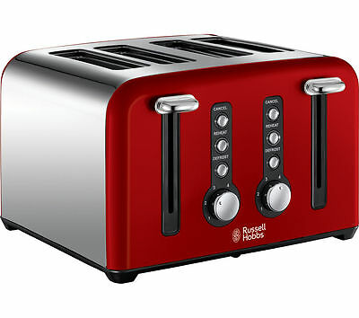 RUSSELL HOBBS Windsor 22831 4-Slice Toaster Red