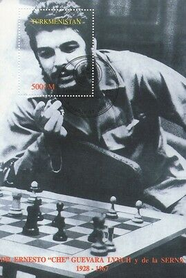 Che Guevara Marxist Playing Chess Cto Cancelled To Order Stamp Sheetlet