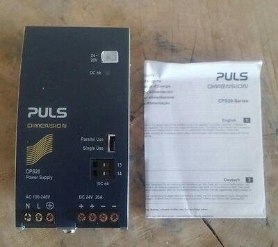 PULS CPS20.241 DC Power Supply 100-240VAC Input 24-48VDC,20A;480W Output