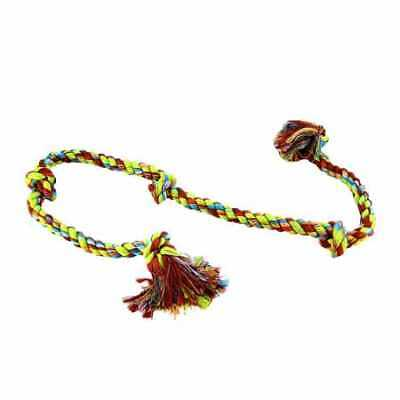 "Mammoth Flossy Chews Cottonblend Color 5-Knot Rope Tug 36"" (X-Large)"