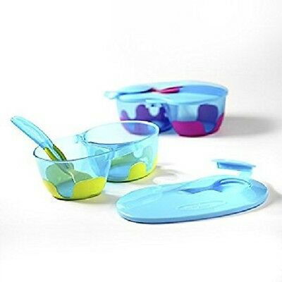 Baby/Toddler Feeding Travel Bowl Set Container Weaning with Lid (Pink Colour )
