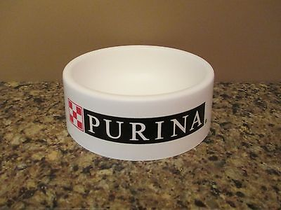 Classic White Plastic Ralston Purina Dog Chow Food Bowl - Gently Used