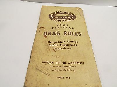1961 Nhra Rule Book Drag Rules National Hot Rod Association