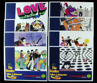Beatles Yellow Submarine Limited Edition Lobby Card Set