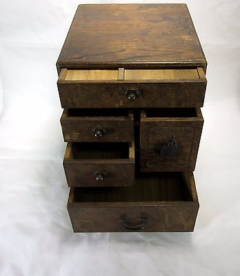 19th Century Antique Chinese 5 Drawer Table Top Box