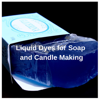 Liquid Colours, Soap & Candle Making  Choice of 12 Colours 10ml Free P&P