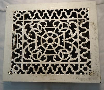 VTG. Antique Cast Iron Architectural Salvage Heat Grate Register Maltese Cross