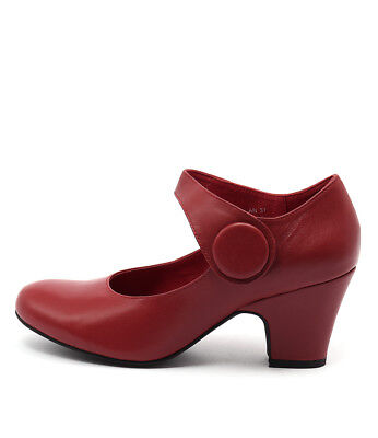 New Django & Juliette Scanlan Red Leather Red Red Womens Shoes Casual