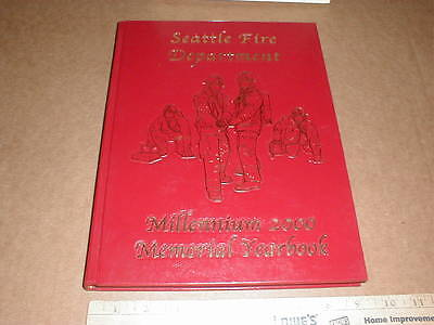 Seattle WA Washington Fire Dept Department Firefighter Yearbook 2000 rare New hb