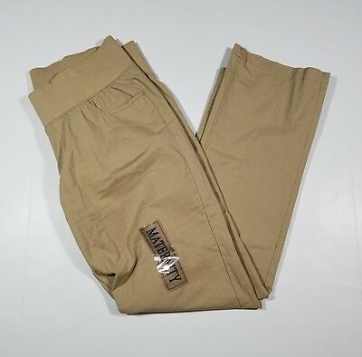 NEW Oh! Mama Maternity Women's Size Large Beige Casual Stretch Pants NWOT