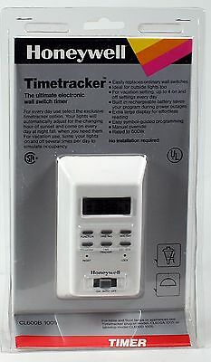 NEW  Honeywell Timetracker Ultimate Electronic Wall Switch Timer CL600B 1009