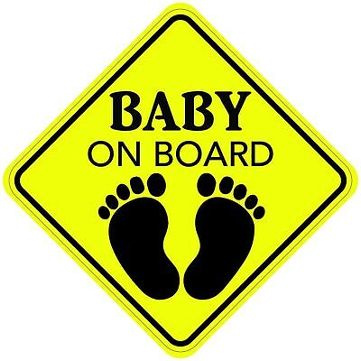 "BABY ON BOARD Magnet 5""x5"" Made in the USA Buy 2, Get 3rd FREE"
