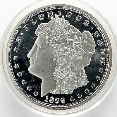 1889 Morgan Eagle Dollar Tribute Sterling Silver Plated Coin
