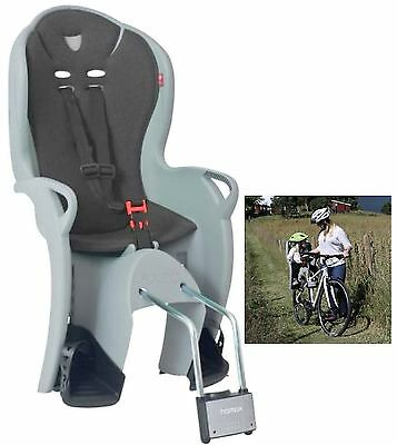 Hamax Kiss Rear Mounted Kids Child Bike Seat Grey Ergonomic 9 Months to 22kg