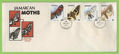 Jamaica 1989 Moths set on First Day Cover