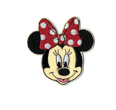 Minnie Mouse - Disney - Cartoon - Red & White Bow - Embroidered Iron On Patch B