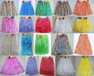 Pack Of 6 / 12 / 24 Grass, Hula, Hawaiian Grass Skirts; Party, Fancy Dress, Hen